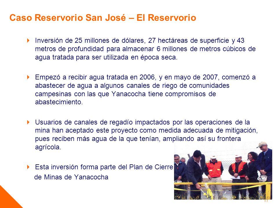 Inversión de 25 millones de dólares, 27 hectáreas de superficie y 43 metros de profundidad para almacenar 6 millones de metros cúbicos de agua tratada