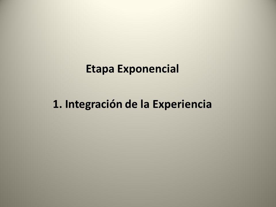 Etapa Exponencial 1. Integración de la Experiencia