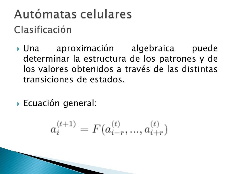 Una aproximación algebraica puede determinar la estructura de los patrones y de los valores obtenidos a través de las distintas transiciones de estado