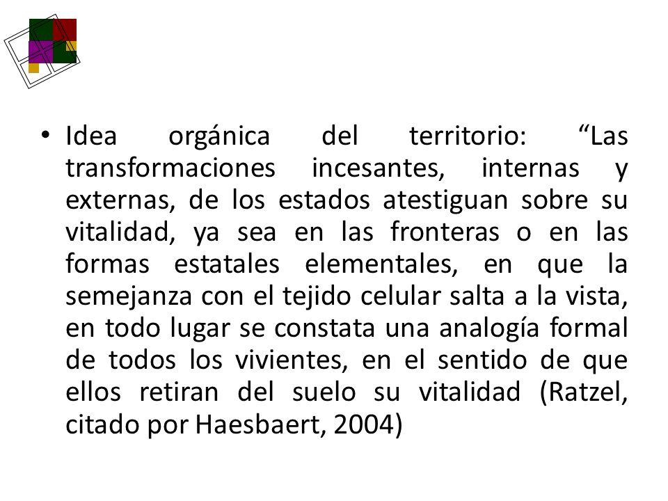 Idea orgánica del territorio: Las transformaciones incesantes, internas y externas, de los estados atestiguan sobre su vitalidad, ya sea en las fronte