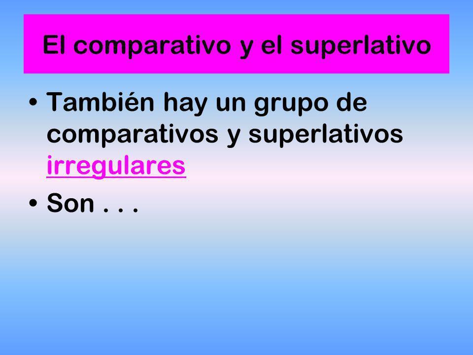 Los superlativos absolutos se forman suprimiendo la terminación del adjetivo y sustituyéndola por la terminación -ÍSIMO / -ÍSIMA, según sea masculino