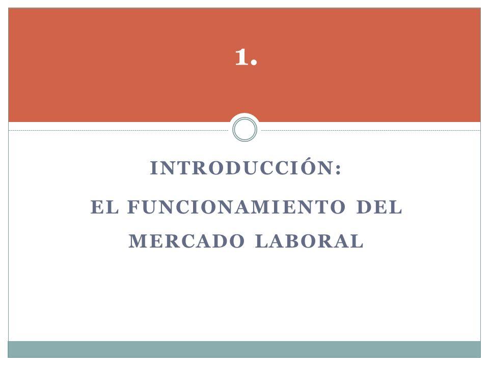 INTRODUCCIÓN: EL FUNCIONAMIENTO DEL MERCADO LABORAL 1.