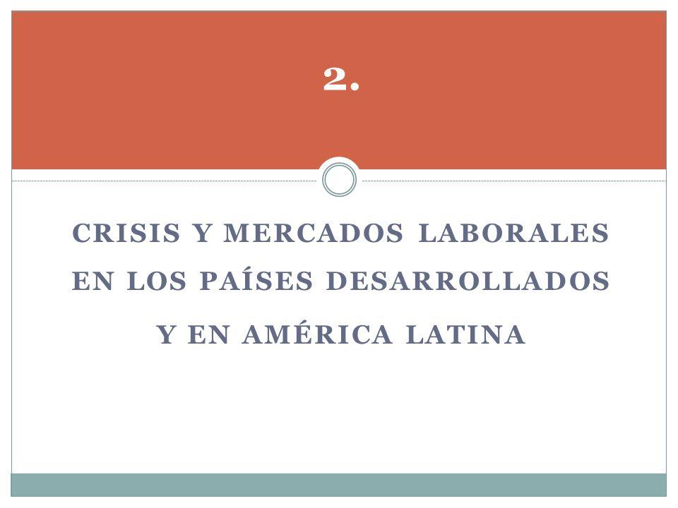 CRISIS Y MERCADOS LABORALES EN LOS PAÍSES DESARROLLADOS Y EN AMÉRICA LATINA 2.