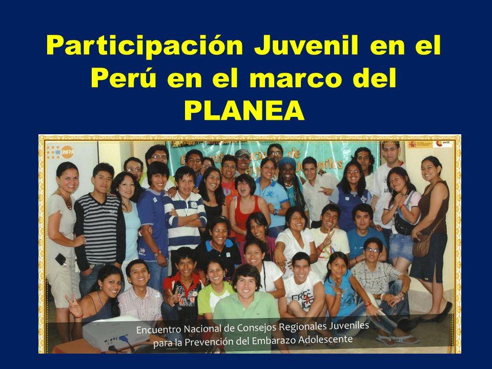 La participación juvenil en el marco normativo nacional Lineamientos de Política de Salud de los/las adolescentes.