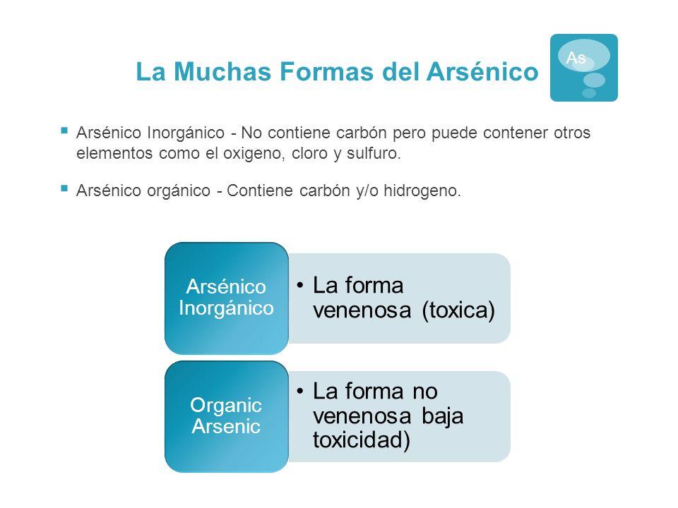 Arsénico Inorgánico Fuente de arsénico en el agua superficial y subterránea.