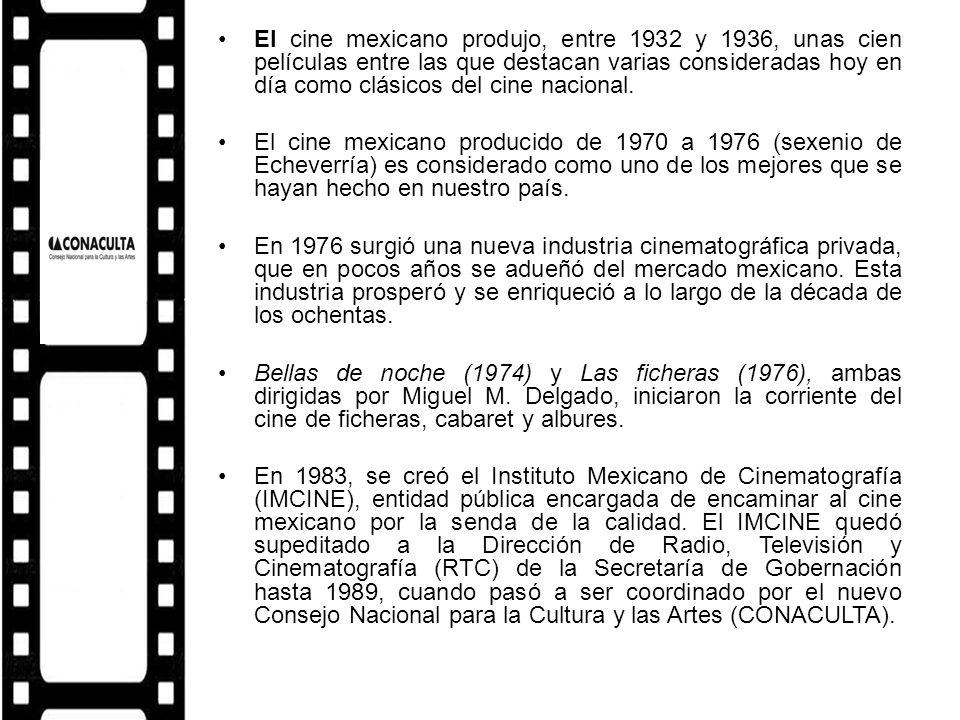 El cine mexicano produjo, entre 1932 y 1936, unas cien películas entre las que destacan varias consideradas hoy en día como clásicos del cine nacional