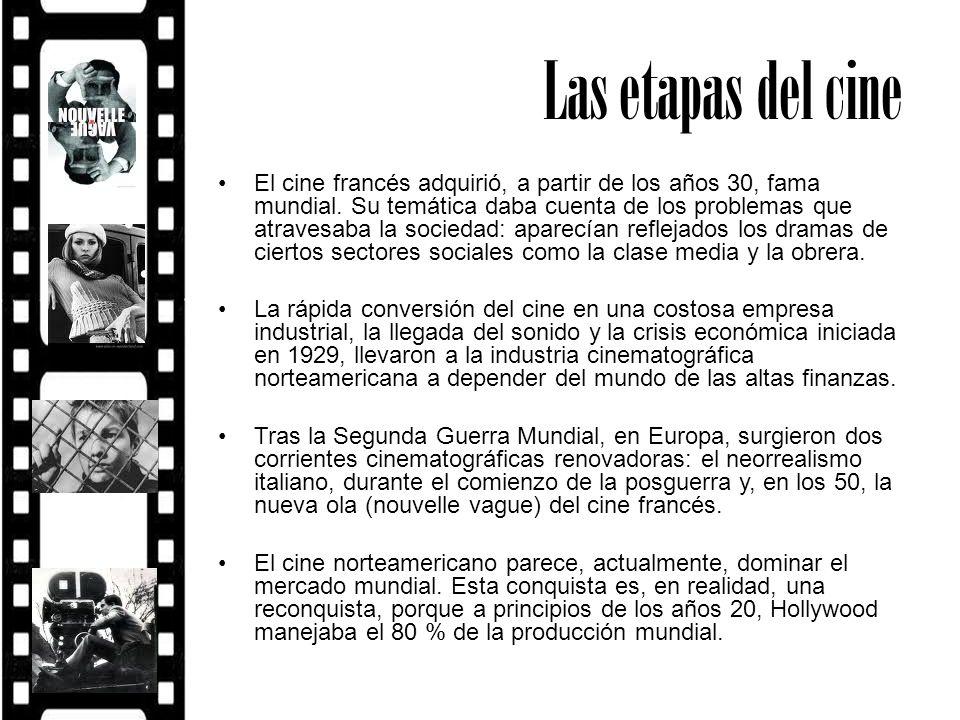La función del cine El cine sirvió durante más de medio siglo - hasta ya avanzada la etapa de la televisión abierta – para: – Reforzar, desde los principales países productores, la labor de propaganda –La legitimación de los valores y los sistemas de vida que les eran propios a estos países.