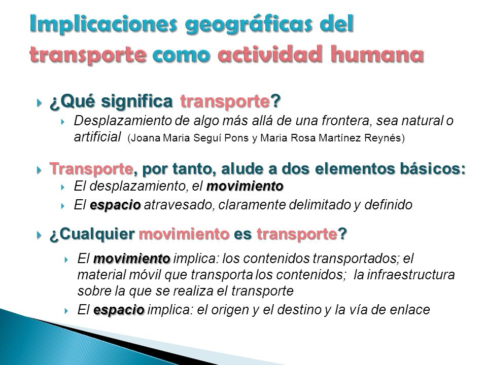 ¿Qué significa transporte. ¿Qué significa transporte.