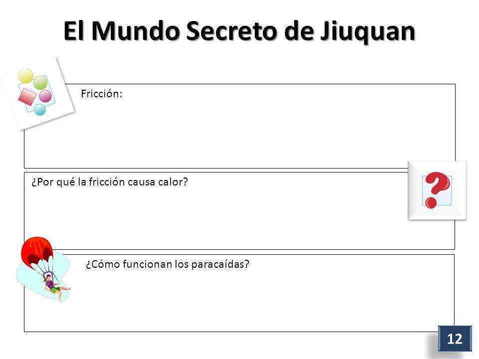 El Mundo Secreto de Jiuquan Fricción: ¿Por qué la fricción causa calor.