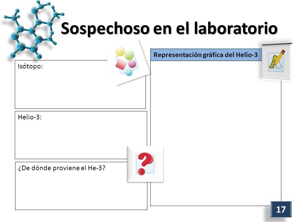 Sospechoso en el laboratorio Isótopo: Representación gráfica del Helio-3 Helio-3: ¿De dónde proviene el He-3.