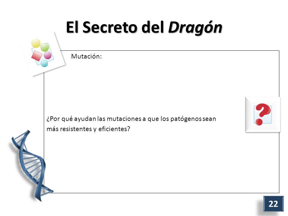 El Secreto del Dragón Mutación: ¿Por qué ayudan las mutaciones a que los patógenos sean más resistentes y eficientes.