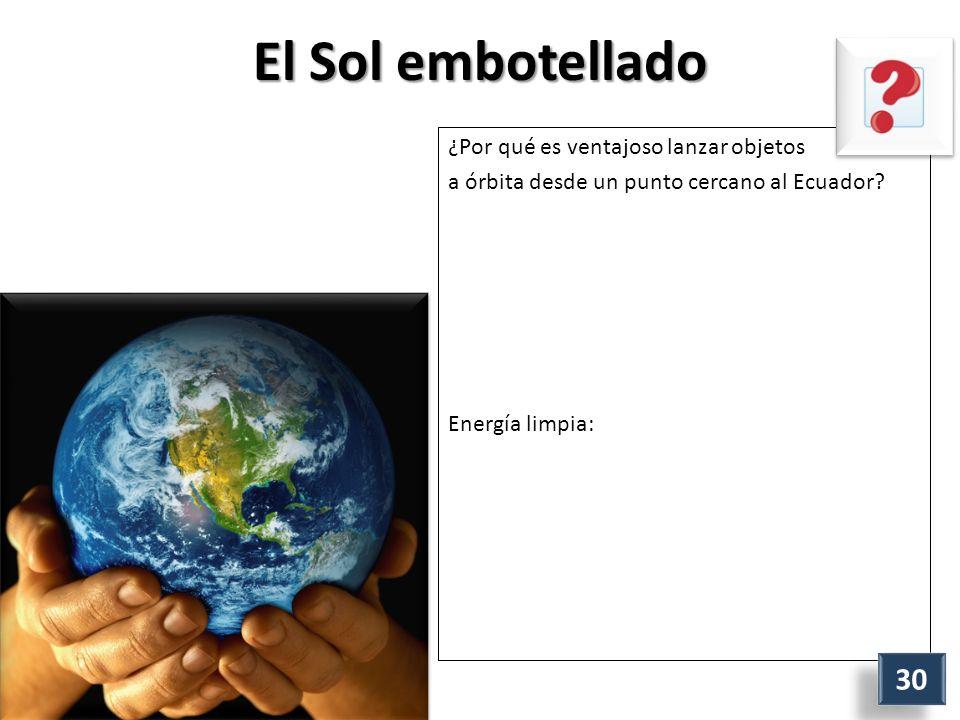 El Sol embotellado ¿Por qué es ventajoso lanzar objetos a órbita desde un punto cercano al Ecuador.