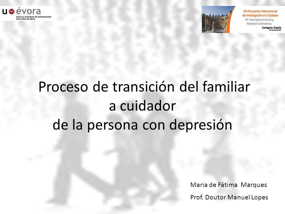 Maria de Fátima Marques discusión… Algunas veces el familiar tiene un sentimiento de culpa, no como consecuencia de haber hecho algo malo, sino por haber tenido un comportamiento más duro con el paciente y no saber si esto es correcto.