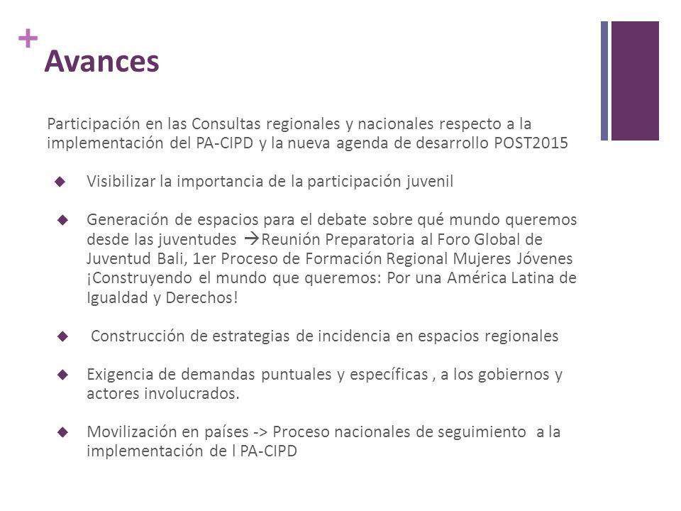 + Ejes de actuación para aumentar la calidad de los servicios en ICPD Beyond 2014 y Post 2015 Fortalecimiento institucional, afirmar el rol garante del estado en la salud pública, bajo un marco de derechos humanos.