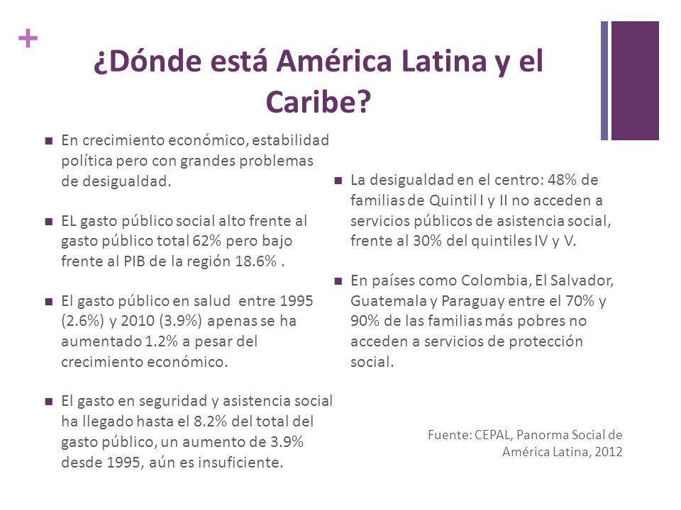 + ¿Dónde está América Latina y el Caribe.