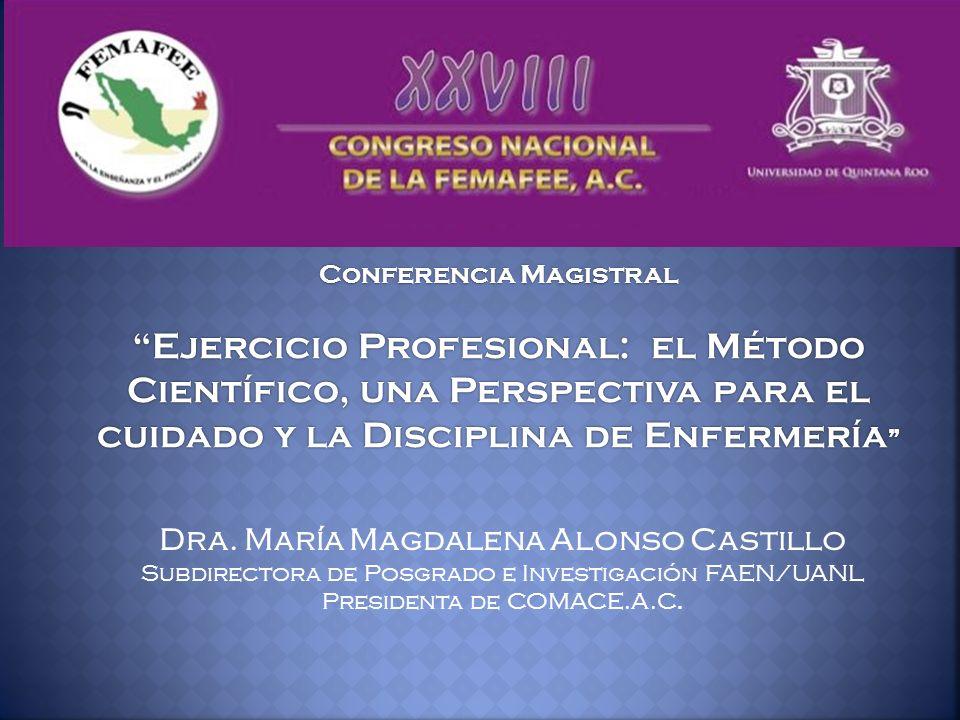 Dra. María Magdalena Alonso Castillo Subdirectora de Posgrado e Investigación FAEN/UANL Presidenta de COMACE.A.C.
