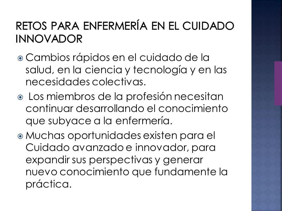 La investigación es crítica para el desarrollo de la disciplina de la enfermería y fundamental para la expansión de la base de conocimiento científico que subyace a la práctica.