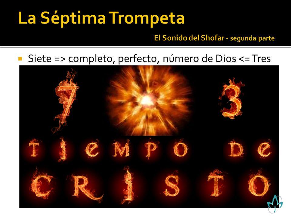 Siete => completo, perfecto, número de Dios <= Tres