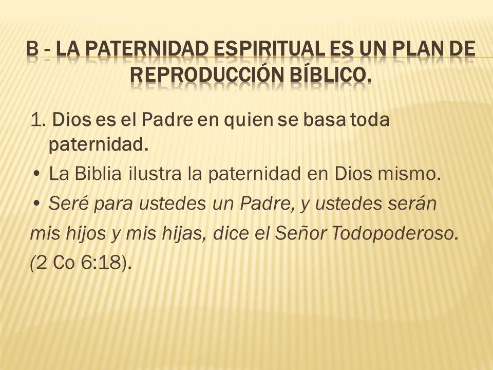 1.Dios es el Padre en quien se basa toda paternidad.