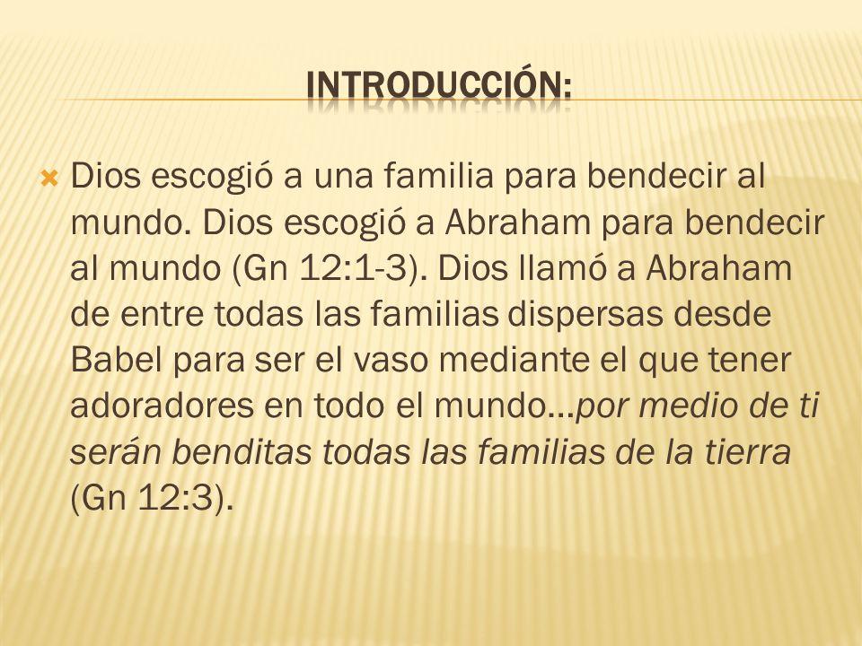 Dios hizo un pacto con Abraham y su descendencia.