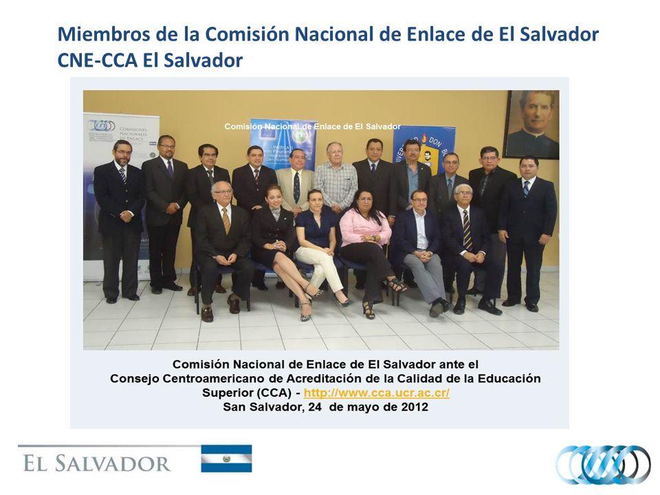 Miembros de la Comisión Nacional de Enlace de El Salvador CNE-CCA El Salvador