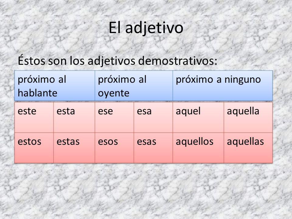 ¡Ojo.En algunos casos el adjetivo cambia de significado según esté antes o después del sustantivo.