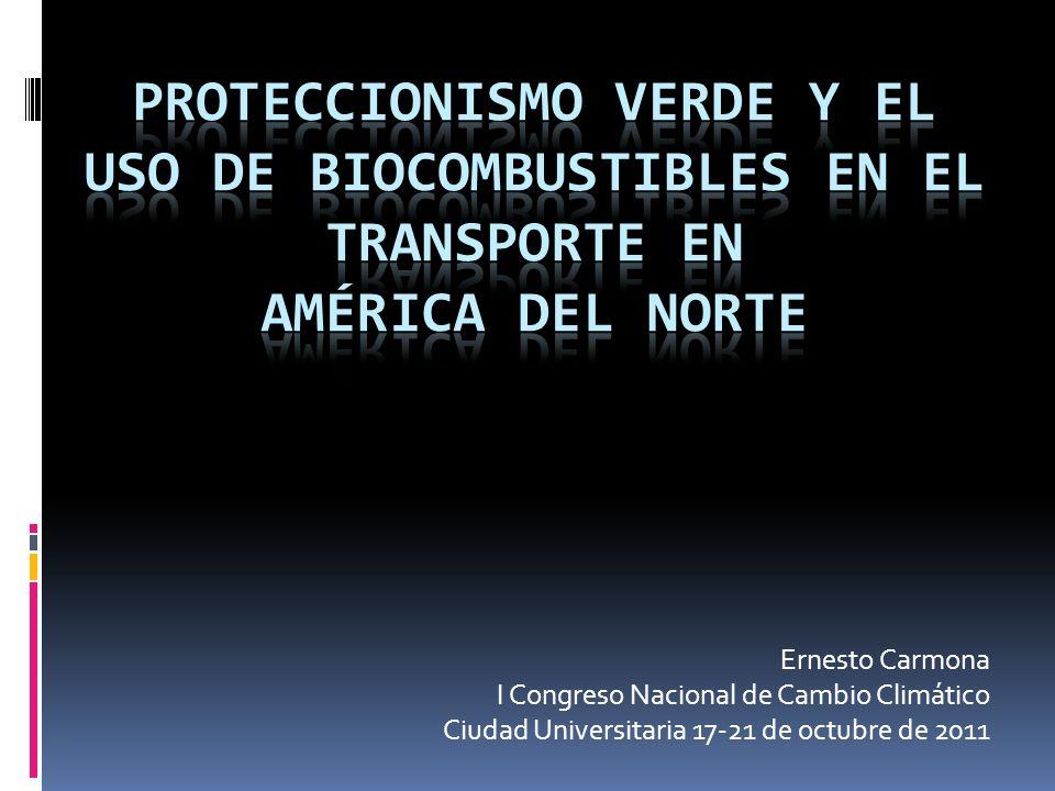 Ernesto Carmona I Congreso Nacional de Cambio Climático Ciudad Universitaria 17-21 de octubre de 2011