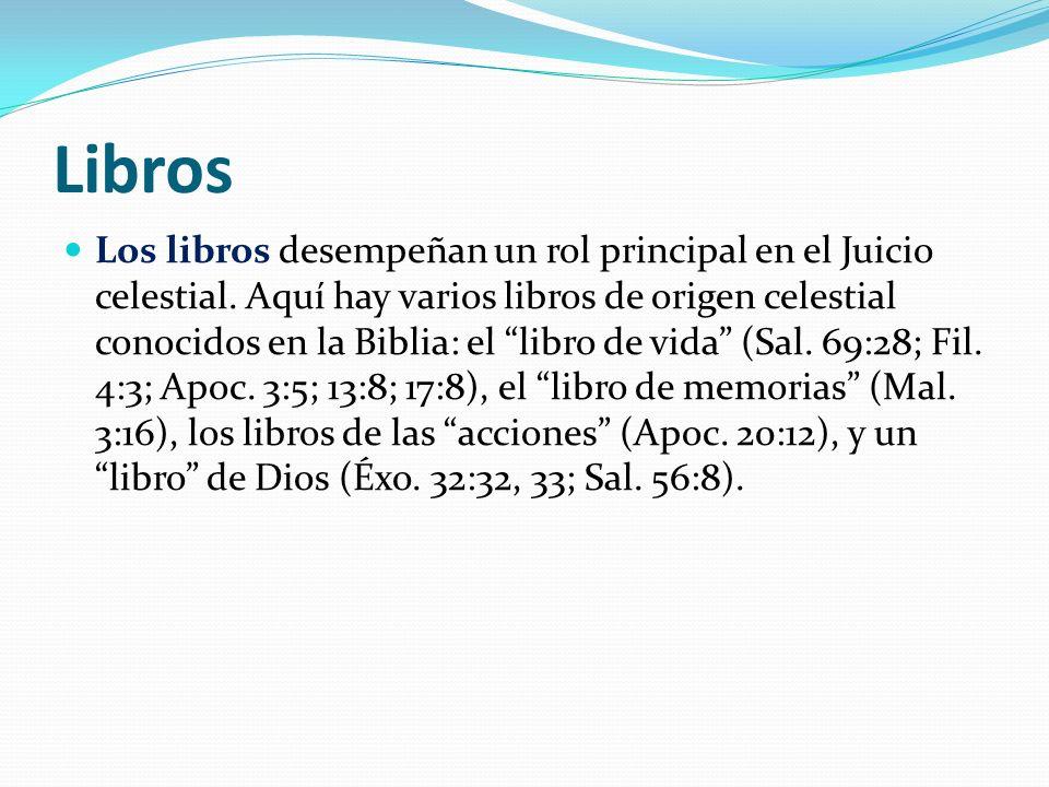 Libros Los libros desempeñan un rol principal en el Juicio celestial.