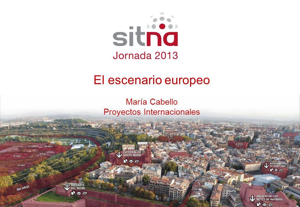Ponente Cargo El escenario europeo María Cabello Proyectos Internacionales