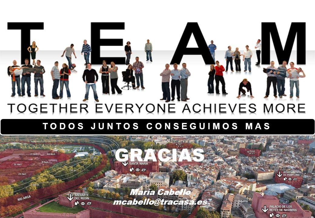 Ponente Cargo El escenario europeo María Cabello Proyectos Internacionales GRACIAS María Cabello mcabello@tracasa.es TODOS JUNTOS CONSEGUIMOS MAS