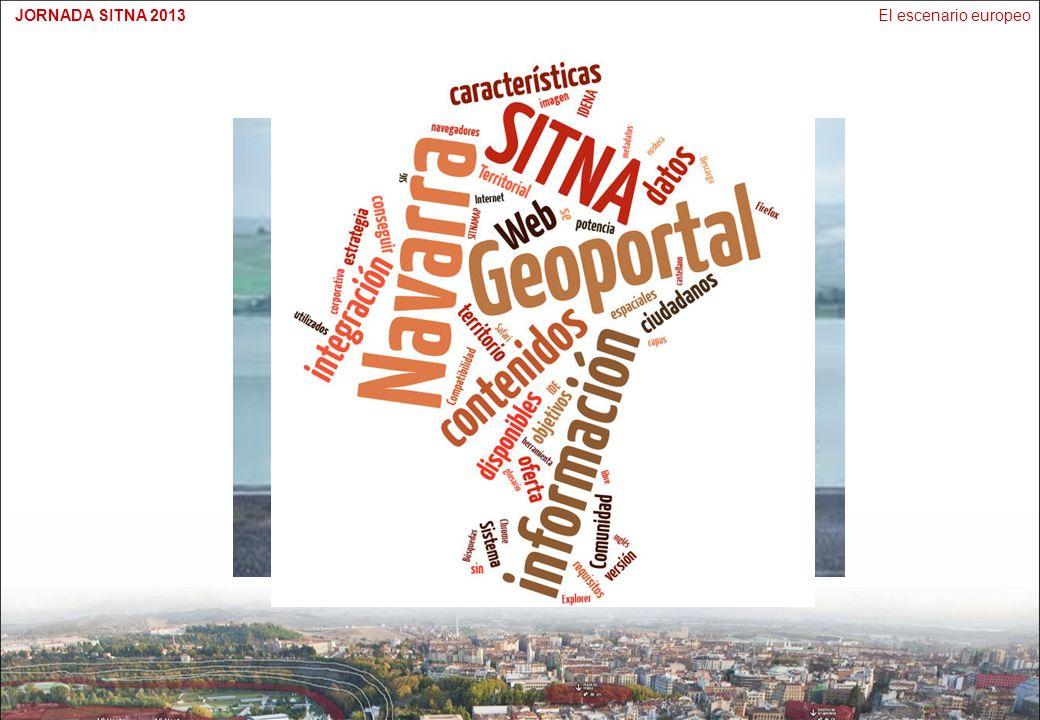 El escenario europeoJORNADA SITNA 2013 EVOLUCIÓN 2005: Inicio de las IDEs 2008: Modelos de Datos 2010: Servicios 2013: Proyectos comerciales 2014 en adelante JRC