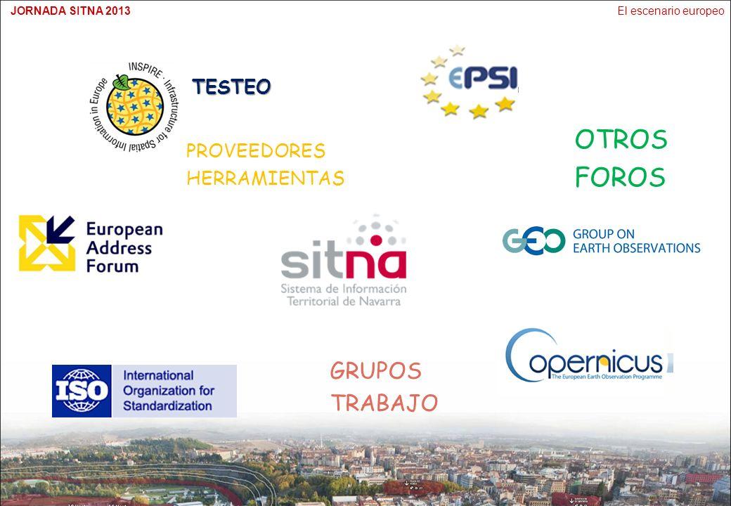 El escenario europeoJORNADA SITNA 2013TESTEO GRUPOS TRABAJO OTROS FOROS PROVEEDORES HERRAMIENTAS
