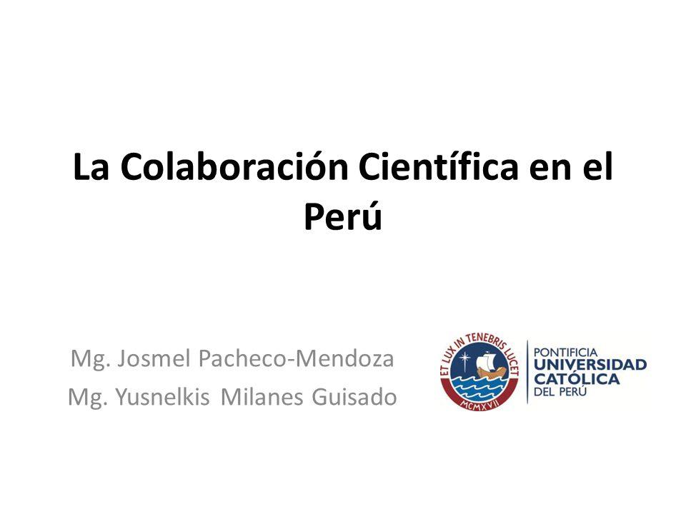 Orden de aparición de la afiliación país en publicaciones con afiliación Perú del 2002 al 2012 Total: 7330 52% es producción de Perú como primer autor