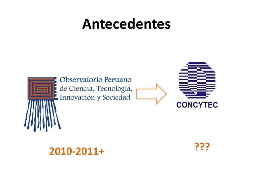 Producción científica del Perú y de las tres universidades más productivas 42% prom.