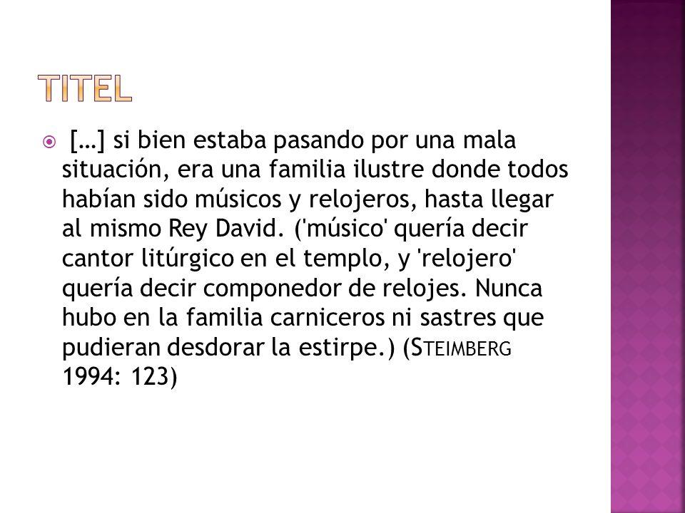 S TEIMBERG, Alicia (1994), Músicos y relojeros.