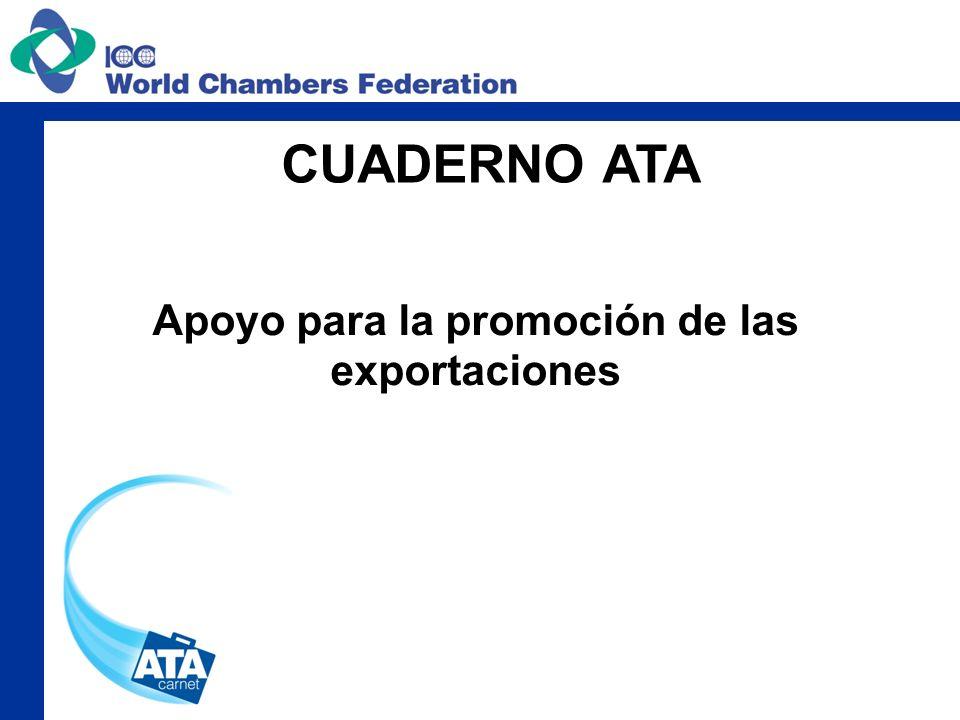 Apoyo para la promoción de las exportaciones CUADERNO ATA