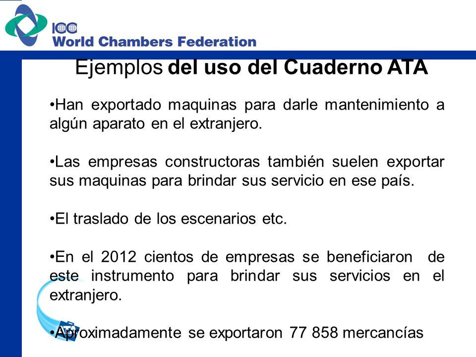 Han exportado maquinas para darle mantenimiento a algún aparato en el extranjero. Las empresas constructoras también suelen exportar sus maquinas para