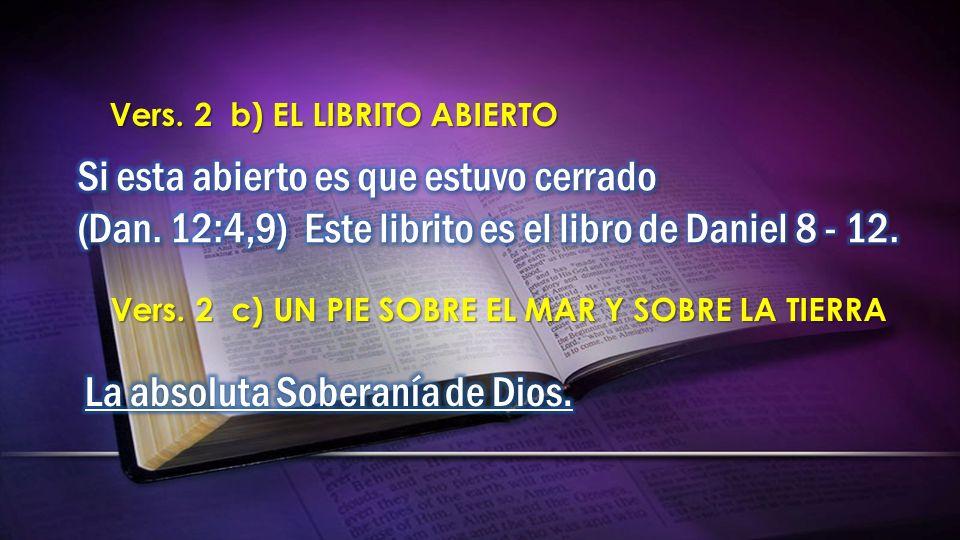 Vers. 2 b) EL LIBRITO ABIERTO Vers. 2 c) UN PIE SOBRE EL MAR Y SOBRE LA TIERRA