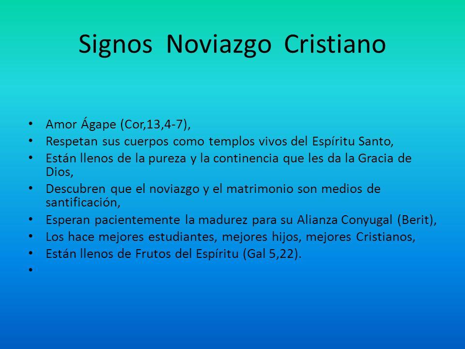 Signos Noviazgo Cristiano Amor Ágape (Cor,13,4-7), Respetan sus cuerpos como templos vivos del Espíritu Santo, Están llenos de la pureza y la continen
