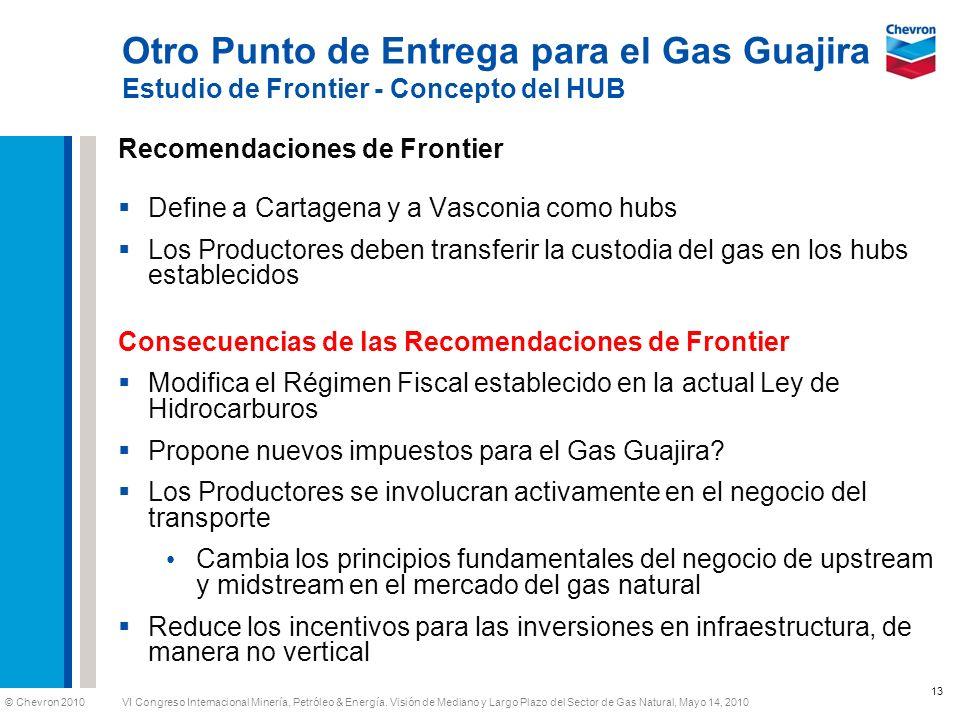 © Chevron 2010 VI Congreso Internacional Minería, Petróleo & Energía. Visión de Mediano y Largo Plazo del Sector de Gas Natural, Mayo 14, 2010 Otro Pu