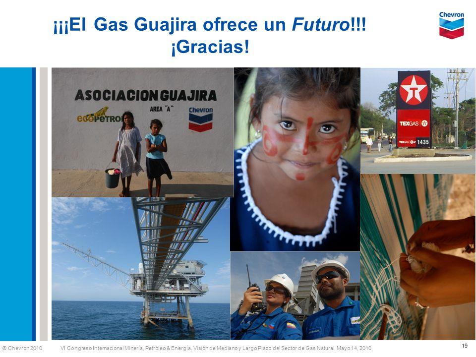 © Chevron 2010 VI Congreso Internacional Minería, Petróleo & Energía. Visión de Mediano y Largo Plazo del Sector de Gas Natural, Mayo 14, 2010 ¡¡¡El G