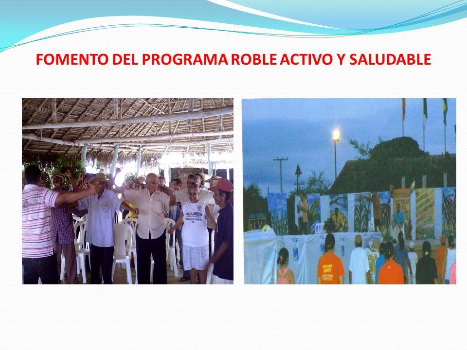 FOMENTO DEL PROGRAMA ROBLE ACTIVO Y SALUDABLE