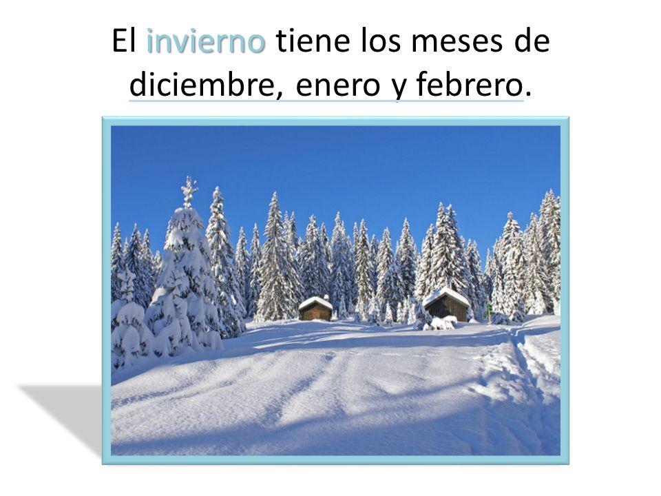 invierno El invierno tiene los meses de diciembre, enero y febrero.