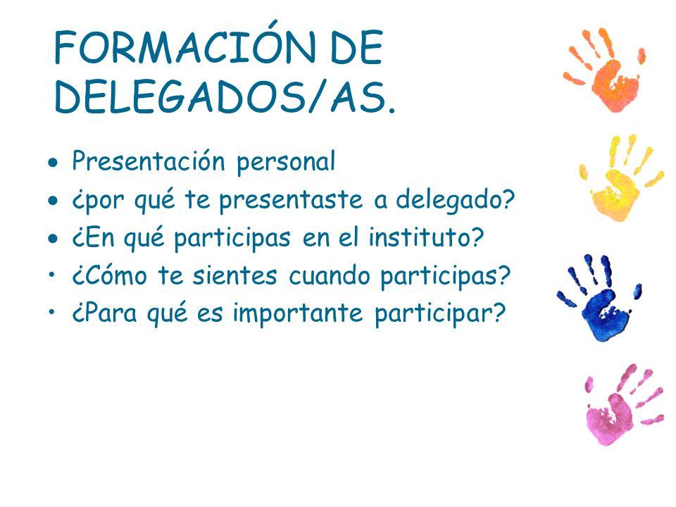 Presentación personal ¿por qué te presentaste a delegado? ¿En qué participas en el instituto? ¿Cómo te sientes cuando participas? ¿Para qué es importa
