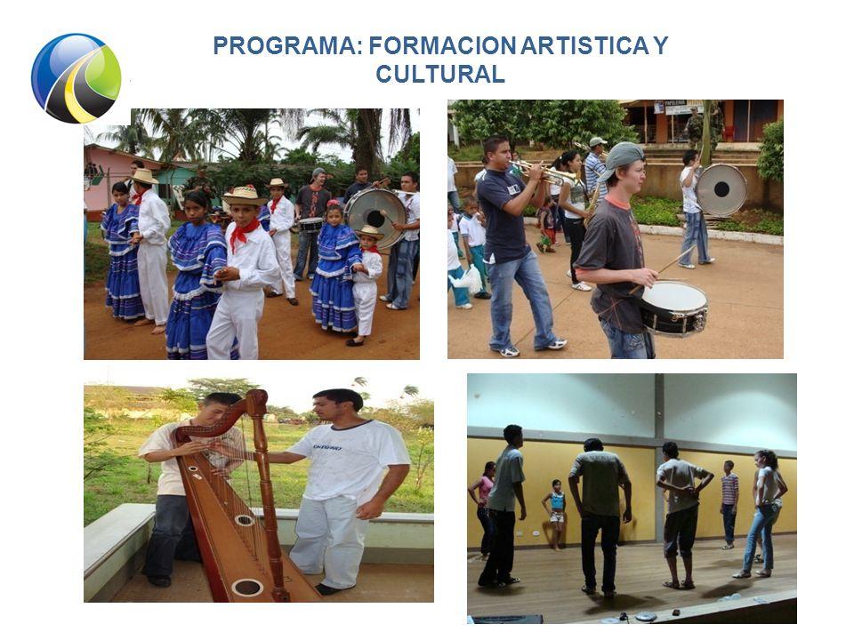 PROGRAMA: FORMACION ARTISTICA Y CULTURAL
