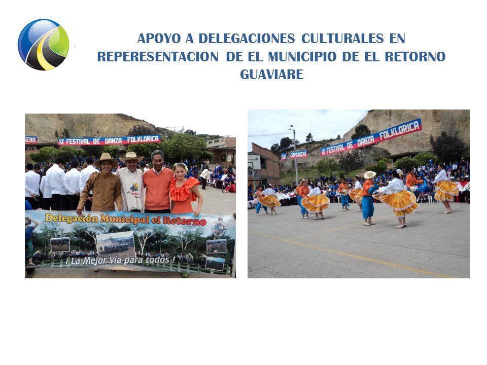 APOYO A DELEGACIONES CULTURALES EN REPERESENTACION DE EL MUNICIPIO DE EL RETORNO GUAVIARE