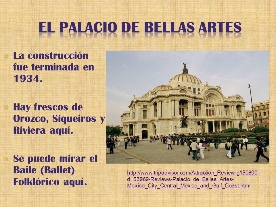 La construcción fue terminada en 1934. Hay frescos de Orozco, Siqueiros y Riviera aquí.