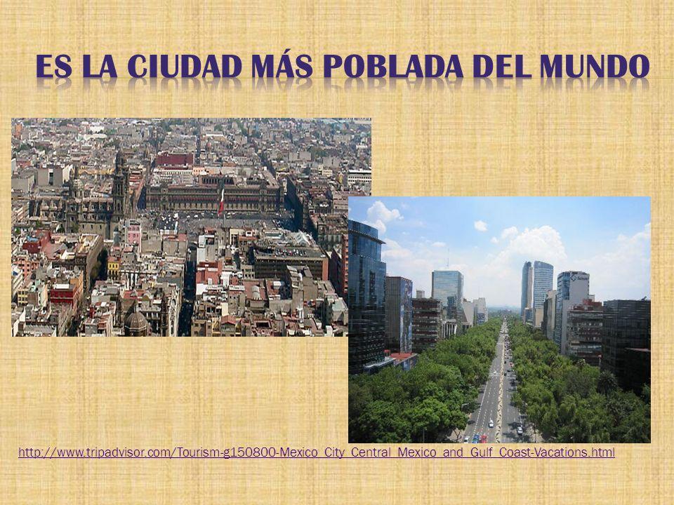Es la plaza más grande del mundo.Fue la capital Azteca Tenochtitlán.