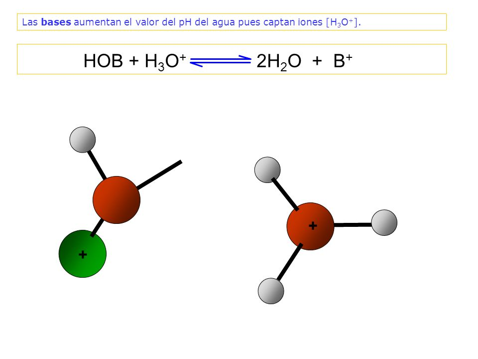 ¿Por qué el valor del pH aumenta al añadir una base, si las bases disminuyen la cantidad de iones [H 3 O + ].