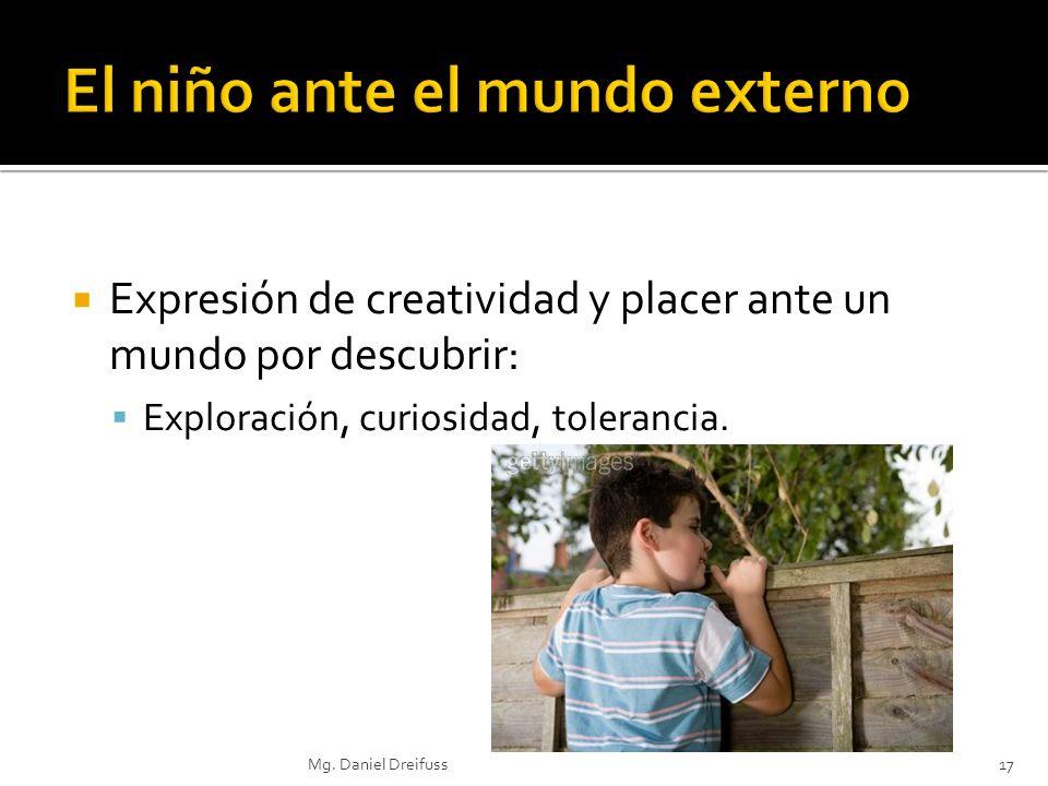 Expresión de creatividad y placer ante un mundo por descubrir: Exploración, curiosidad, tolerancia. 17Mg. Daniel Dreifuss